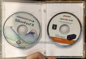 OpticFilmに同梱される、CD/DVDのパッケージ(トールケース/tallcase)。